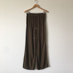 NWT Michael kors wide leg army green pants size 4